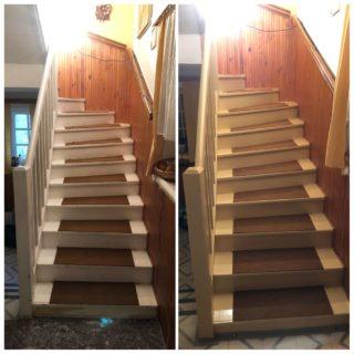 Nátěr dřevěného schodiště