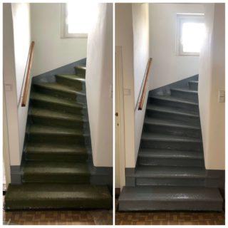 Nátěr kamenného schodiště